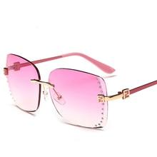 New Style Female Rimless Glasses Summer Sun Glasses Women Polarized Eyewear Eyeglasses Fashion Retro Sunglasses