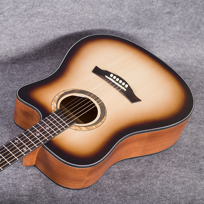 41 inch Folk Guitar Spruce Top Quality Sunset Color JT60 in Guitar from Sports Entertainment