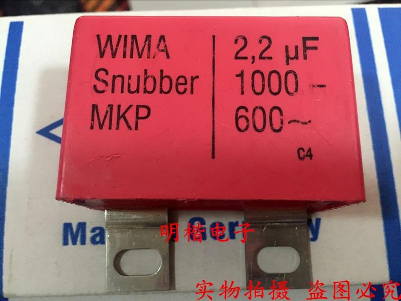 2019 Offre Spéciale 10 pcs/20 pcs Allemagne WIMA Snubber MKP 1000 V 2.2 UF 2U2 1000 V 225 de fer pied Audio condensateur livraison gratuite
