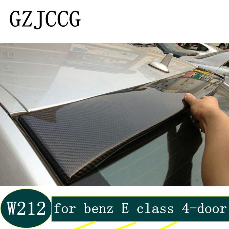 Pour Mercedes classe E w212 4 portes en fibre de carbone style Lorinser ailes de coffre arrière becquet de toit pour benz 2010-2015