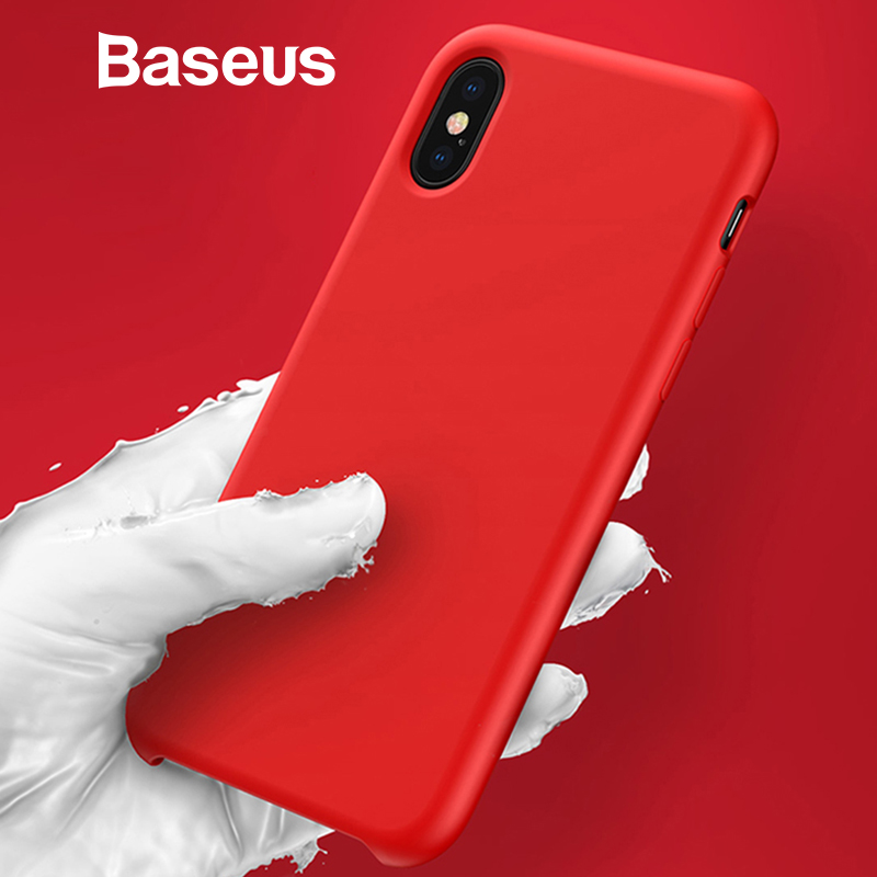 Baseus Luxury Liquid Silicone Case for iPhone Xs Max Ultrathin, Smooth Caramel Color Case for iPhone Xs Max XR Phone Case(China)
