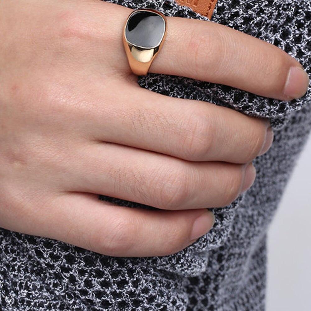 susenstone Fashion Ring Men Jewelry Classical Rings Cool Punk Black ...