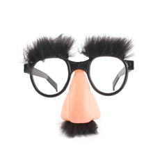 Halloween Decoration Big Nose Funny Glasses Nose Hair Eyebrow Magician Funny Full Fool Fool Props