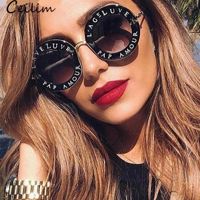 0a2469c440a Retro Round Sunglasses Women 2019 Luxury Brand Designer Bee Metal Frame  Circle Sun Glasses Fashion Female