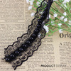 Black Beaded Pearls Lace Fabric Ribbon Trim Applique Scrapbooking Decorated Sewing Supplies For Craft Accessories10yard T852