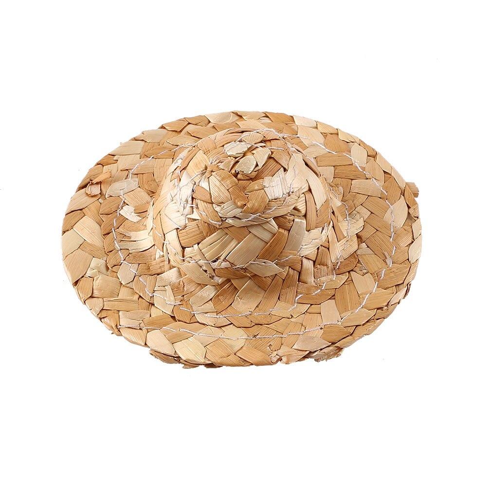 DIY соломенная шляпа Плетение ручной работы фигурка украшение игрушки Детские Картины Сделай Сам трава шляпа украшение креативное искусство для куклы аксессуары - Цвет: 80MM