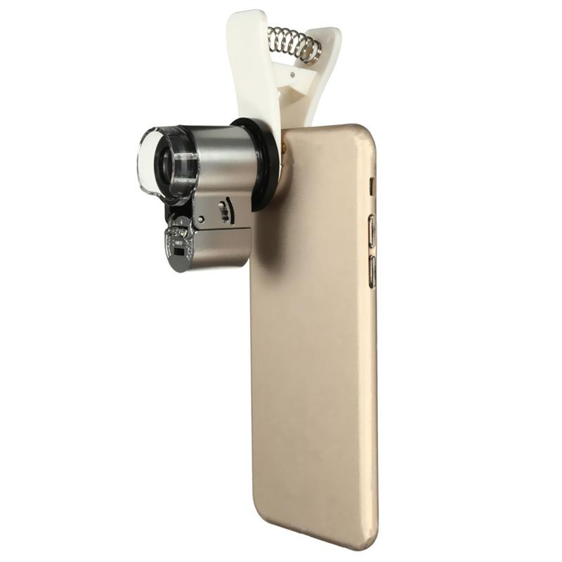 Universal Mobile Phone 65X Zoom Microscope Magnifier Micro Lens Optical Telescope Camera Lens With LED light For Smartphone 4