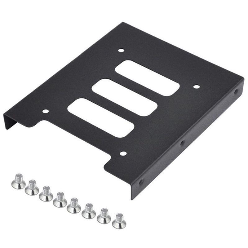 Металлический Монтажный кронштейн для SSD HDD от 2,5 до 3,5 дюйма, держатель для жесткого диска для ПК