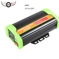 600W Power Inverter DC 12V to 220V Car Inverter with 2.1A Dual USB Car Adapter