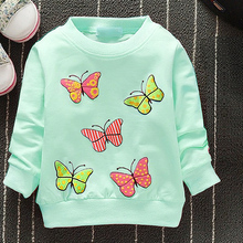 Fashion New Arrival Baby Girls T shirt Spring Autumn Winter 6 Cats lovely long sleeve Character