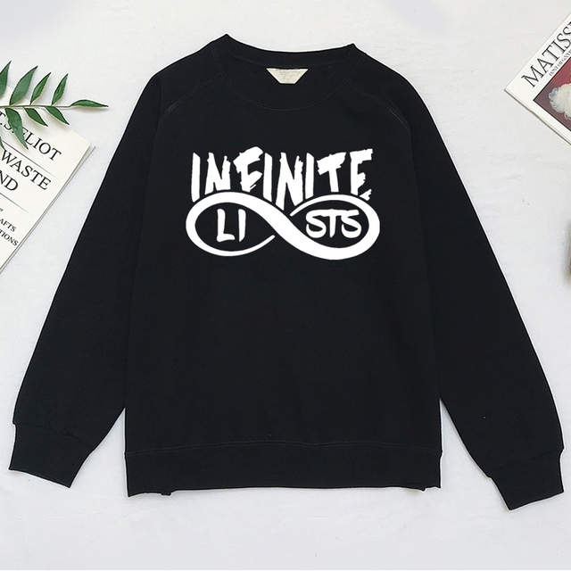 4cf9bd121ad Infinite Lists Merch Men Women Cotton Sweatershirt Infinite Lists  Sweatershirt