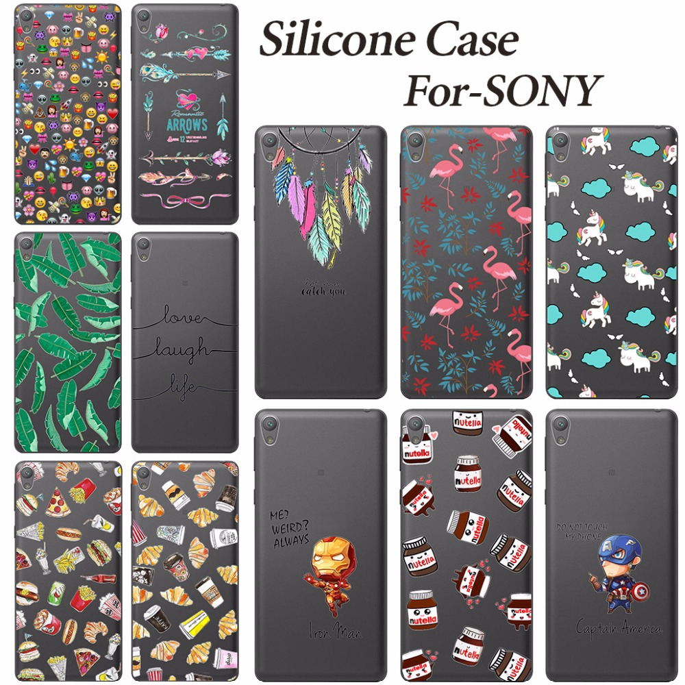 fashion cartoon soft silicone case coque for sony xperia. Black Bedroom Furniture Sets. Home Design Ideas