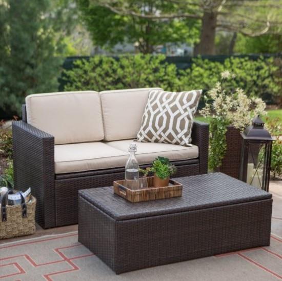 Patio Furniture Cube Table Rattan