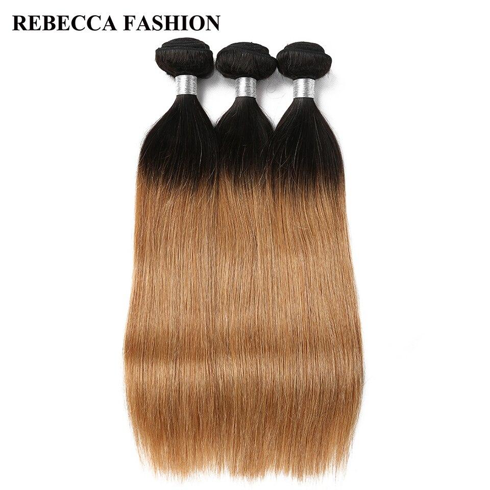 Rebecca 100% Remy Menschlichen Ombre Haar Bundles Malaysische Gerade Haar Extensions 3 Bundles 1b/27 10 Zu 30 Zoll Freies Verschiffen Moderater Preis Haarverlängerung Und Perücken