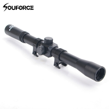 4X20 Rifle Scope with 11mm Mount for Hunting Rifle and Air Gun Airsoft K