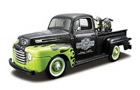Maisto 1:24 1948 Ford F 1 PICKUP Harley 1948 FL PANHEAD CAR Motorcycle BIKE Diecast Model Car Toy NEW IN BOX