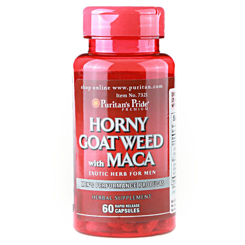 Horny Goat Weed wich Maca 60 pcs Free shipping new hands free high speed piston smart voice interactive male masturbator rotation telescopic sex machine cunt sex toys for men