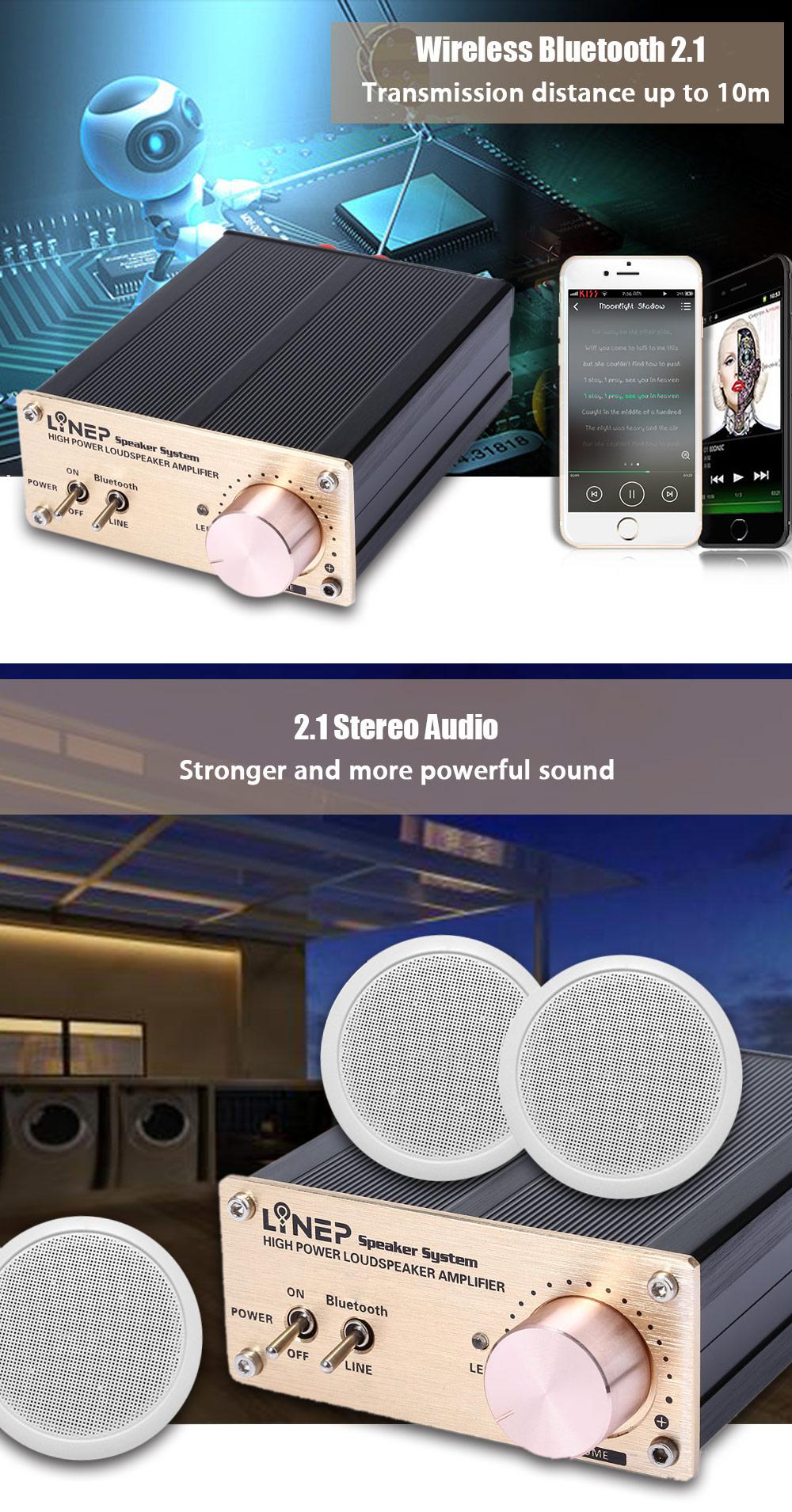Kebidumei Hifi Audio Tube Music Amplifiers A965 Digital Power Amp Mid High Amplifier Portable Speaker 010 9