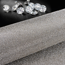 Car Styling Automotive Interior Stickers Silver Crystal Decoration Flash Drill DIY Decals Super Luxurious