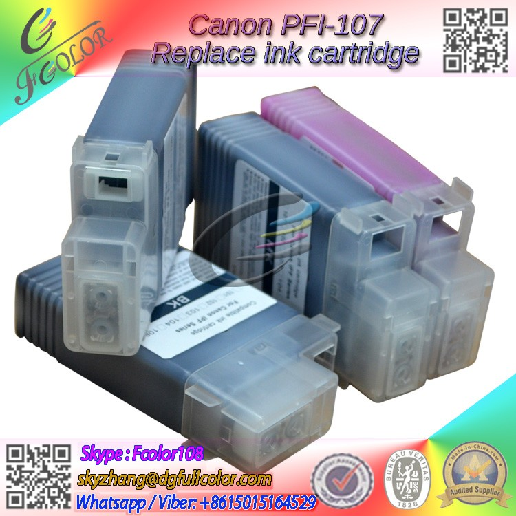 Replacement for Canon PFI-107 ink tank Compatible IPF670 IPF680 IPF685 IPF770 IPF785 Printer inks
