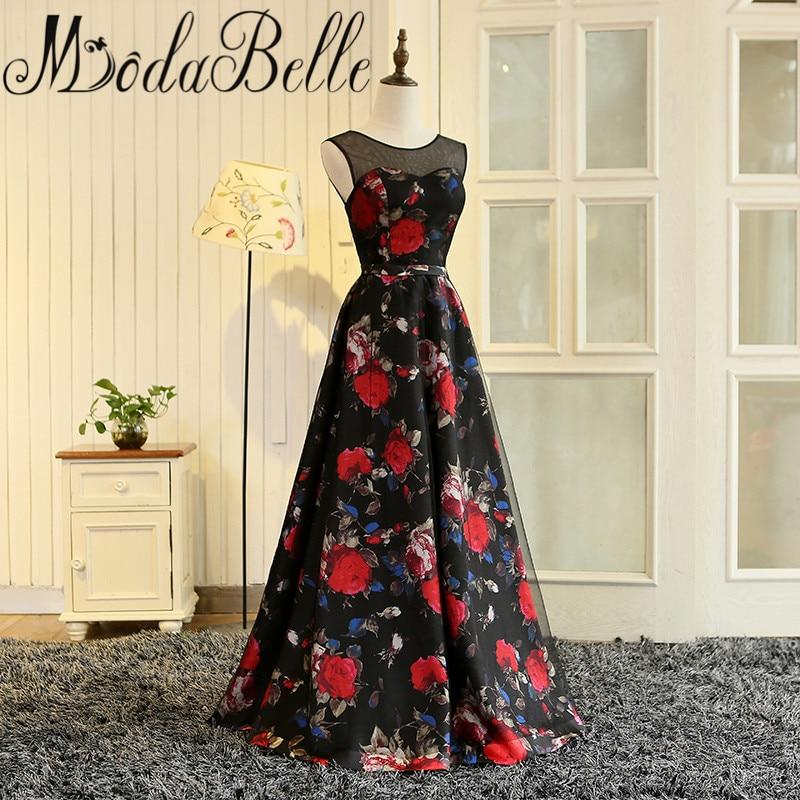 Modabelle Vestidos De Graduacion Largos 2017 Gaun Prom Long Floral - Gaun acara khas - Foto 3