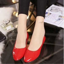 Womens Pointed Toe Ballets Flats Spring Autumn Fashion Basic Shoes Loafers Slip On Casual Shoes Suede PU Leather O058