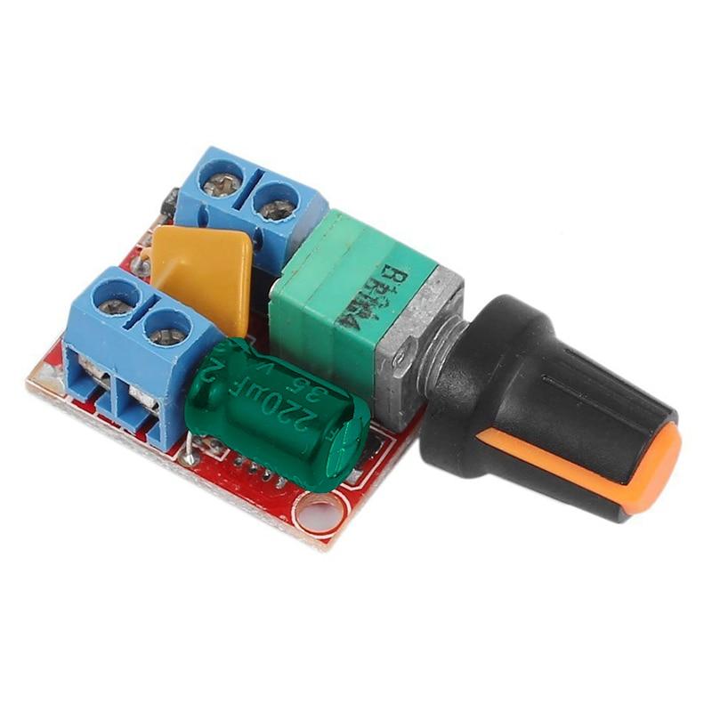 DC Motor Speed Control Driver Board 3V-35V 5A PWM Controller Stepless DC 3V 6V 12V 24V 35V Variable Voltage Regulator Dimmer G
