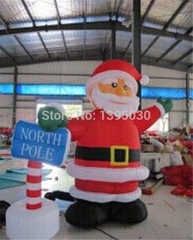 1pc 2.4M  Christmas arch Inflatable cartoon Santa Claus gas model datang Christmas