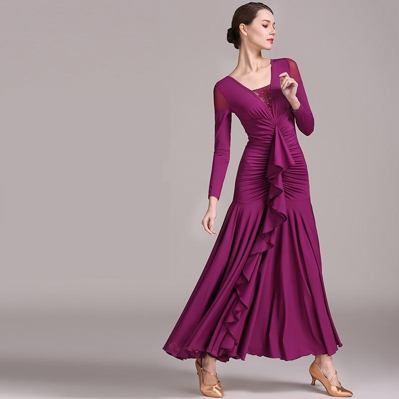 New Style National Standard Ballroom Dance Skirt High-end New Modern Dance Dress Dance Performance Costumes Costumes Waltz Suit