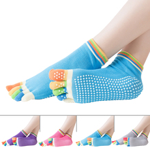 fitness Ladies Girls Women Antiskid Five Fingers Sport Pilates  Non Slip Grip Socks HOT SELLING