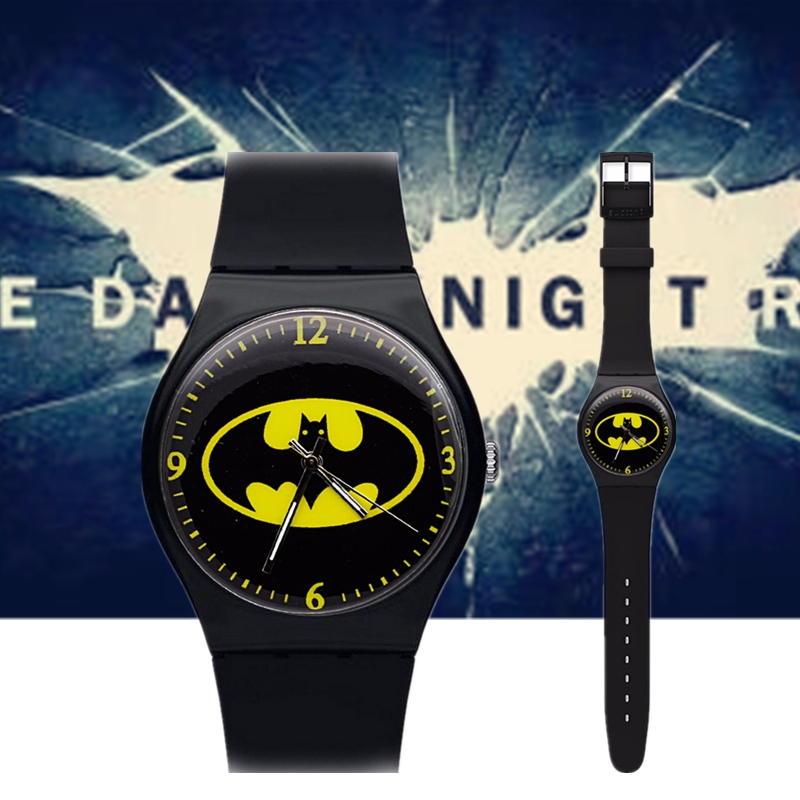 Children's Watches Humor Ot01 Hot Children Watch Kids Cartoon Batman Wristwatch Cool Rubber Table Watches For Children Boy Girls