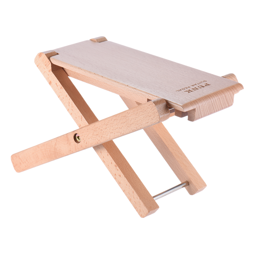 Musical Instruments Sports & Entertainment Sunny Foldable Wooden Guitar Foot Rest Stool Pedal 4-level Adjustable Height Beech Wood Material