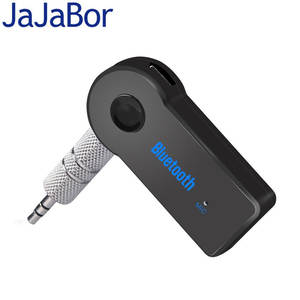 JaJaBor 3.5mm Bluetooth Car Kit for Phone AUX Audio Jack Car A2DP Wireless Bluetooth