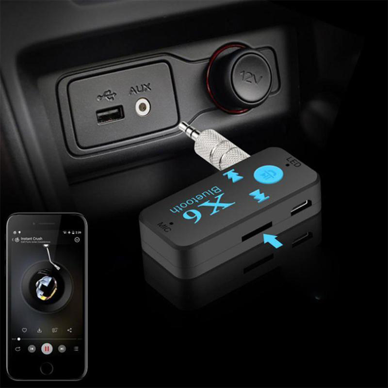 Image 3 - 3 in 1 Wireless Bluetooth Adapter 4.0 USB Bluetooth Receiver 3.5 mm Audio Jack TF Card Reader MIC Call Support For Car Speaker-in USB Bluetooth Adapters/Dongles from Computer & Office