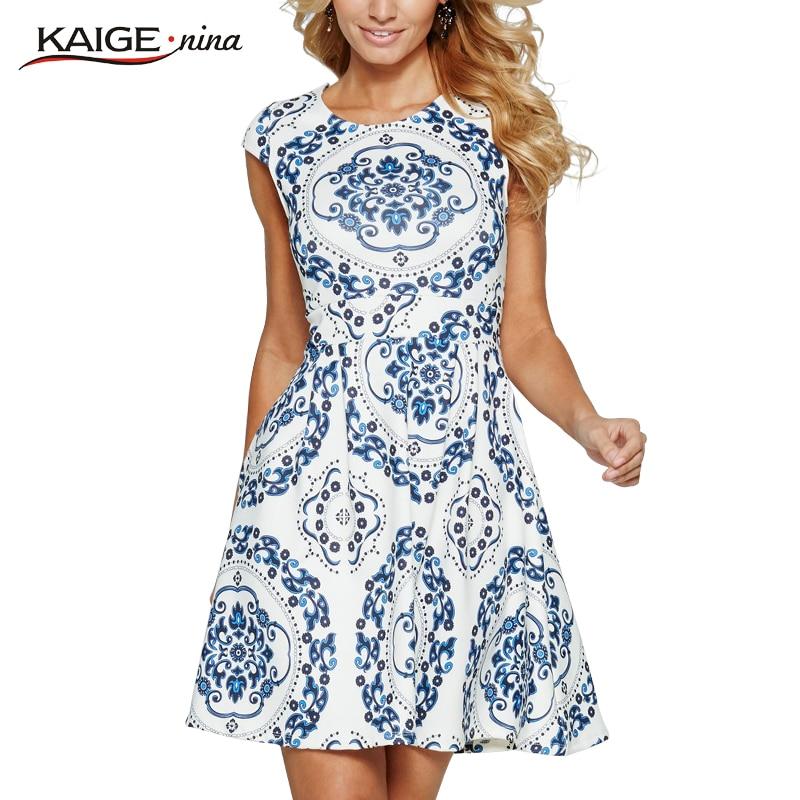 Totem dress trazo de pintura blanca de las mujeres vestidos de verano kaige. nin