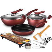 Promotional High Quality Red Non Stick font b Cookware b font Set of 6pcs With Many
