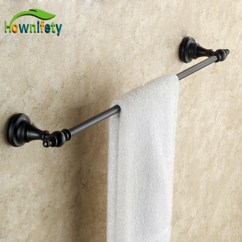 Oil Rubbed Bronze Finish Bath Single Towel bar Wall Mounted With Crystal