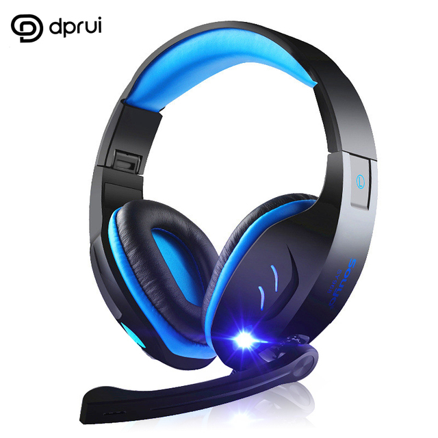 DPRUI  professional headphones Earphone  7.1 channel USB plug earphone with luminous headphones with microphone for gaming Heads
