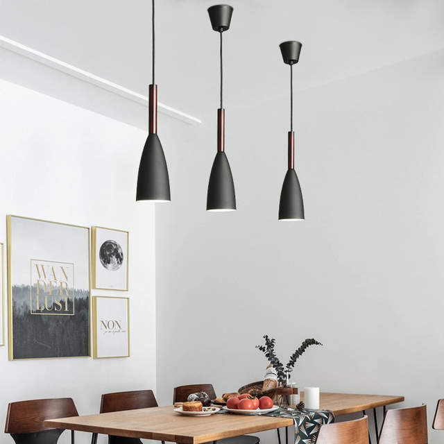 Black Pendant Light Bar Modern