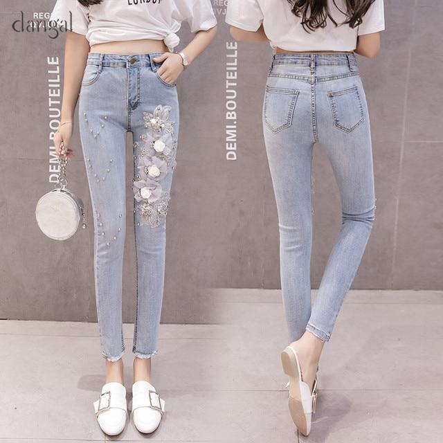 3aa57a0bec4 Dangal-Women-Jeans-Pants-Skinny-Jeans-Femme -Women-Cropped-Jeans-Flower-Rivet-Zipper-Coated-Casual-Pant.jpg 640x640.jpg