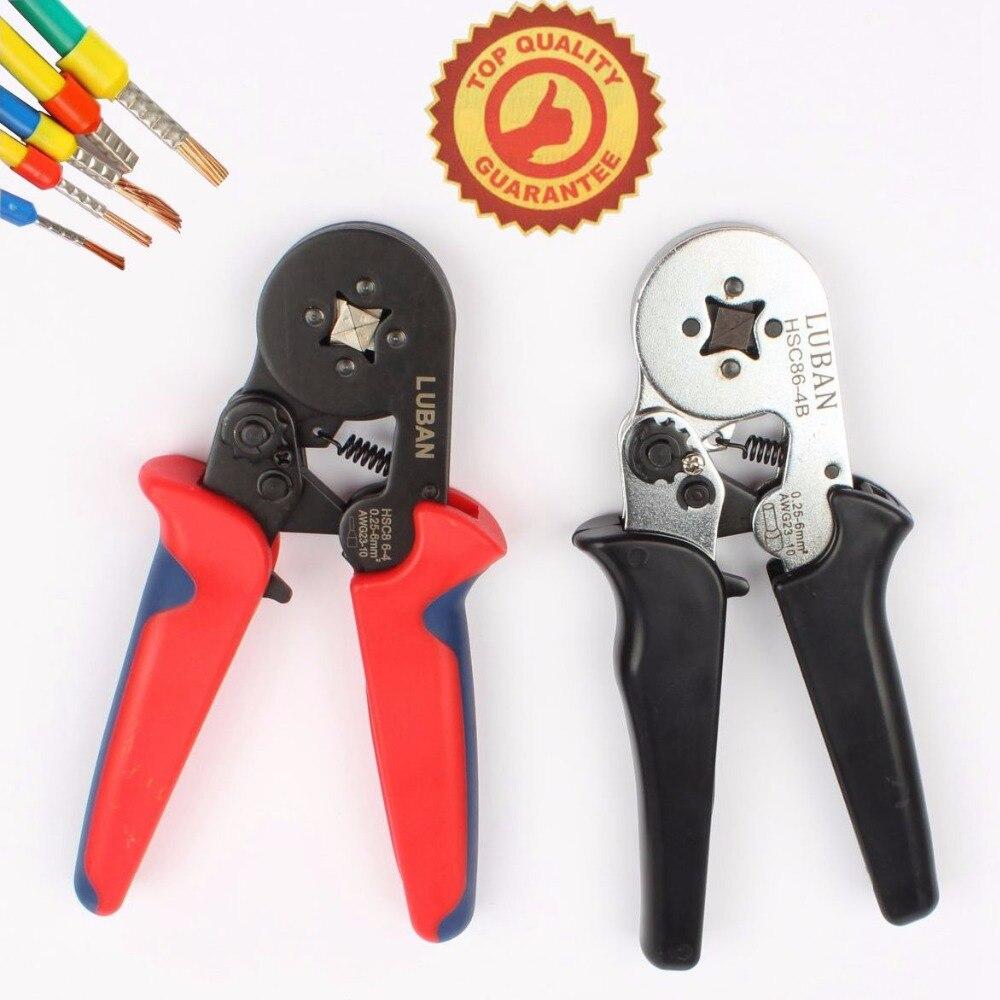 HSC8 6-4A MINI-TYPE SELF-ADJUSTABLE CRIMPING PLIER 0.25-6mm2 terminals crimping tools multi tool hands pliers LUBAN hsc8 6-4 комплектующие для стиральных машин 02 100