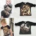 Hot New 3d Posicionamento Impresso T Camisas Do Bebê Meninos Grils Outono Cotton Tops Tees Crianças Moda Camisas 2016 Crianças Roupas