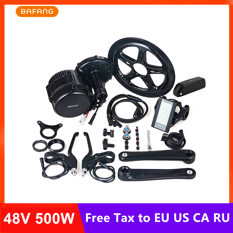 Bafang 8fun 48V 500W BBS02B Mid Drive Motor Ebike Electric Bicycle Conversion Kits With 48V 13AH Lithium Battery C961 C965 Parts