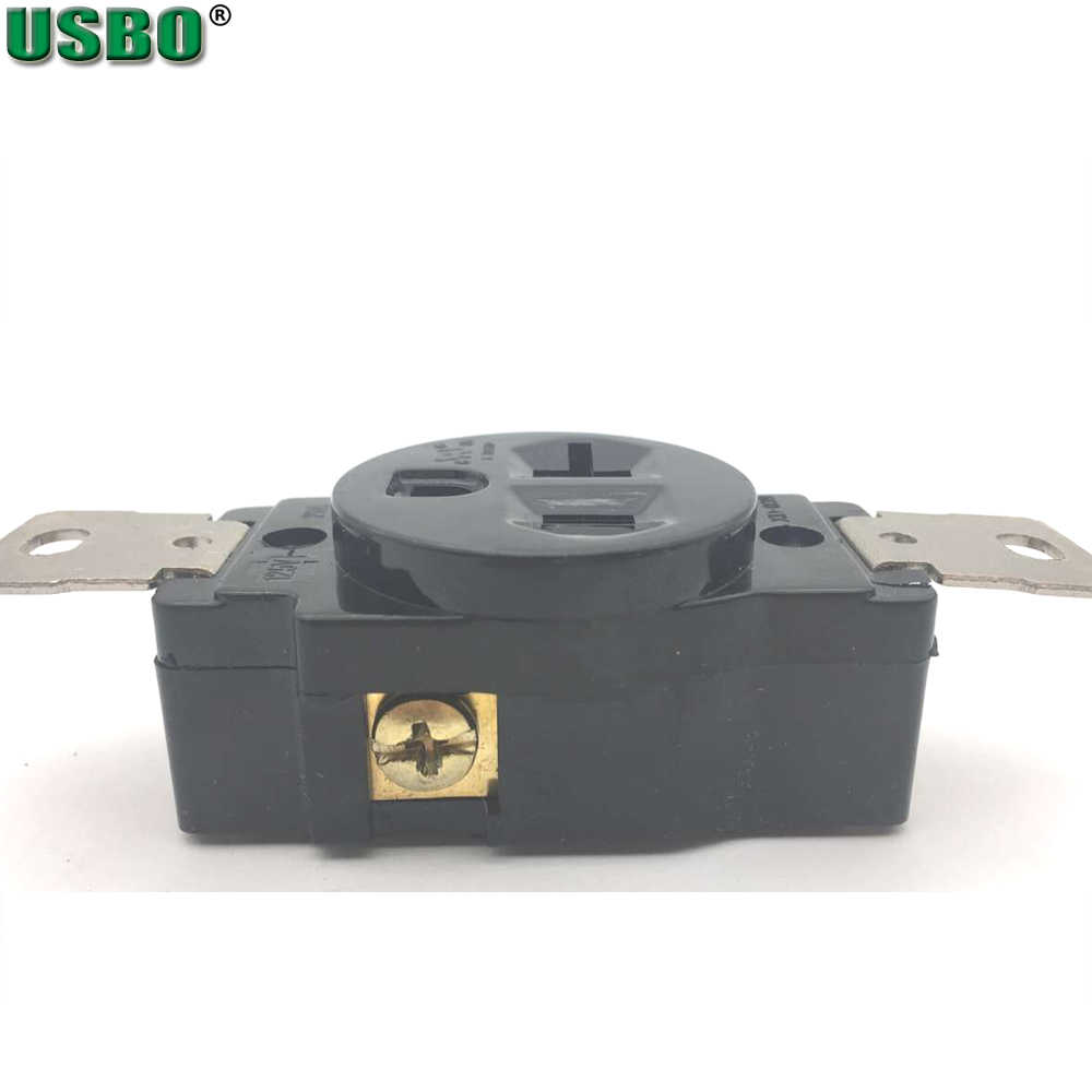 small resolution of  american 120v 20a 3 hole nema 5 20r us single generator outlet anti off