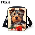 FORU DESIGNS Women Messenger Bags Yorkshire Terrier Printed Crossbody Bags for Ladies Small Casual Shoulder bag bolsa feminina