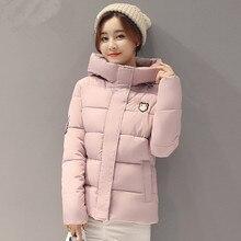 XMY3DWX новые женские зимние Slim Fit Куртка с капюшоном утолщение супер теплый Короткое пальто с длинными рукавами больших размеров с хлопковой подкладкой одежда