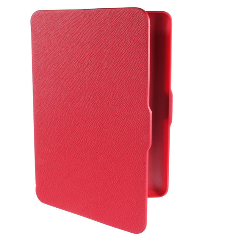 MOOL Magnetic PU Leather Cover Case slim for Amazon Kindle Paperwhite (Cross pattern, Red) premiu ultra slim pu leather smart case cover for new amazon kindle paperwhite 5 4 8