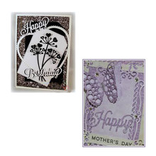 Naifumodo  Limited Benefit Happy Letter Metal Cutting Dies Scrapbooking Album Craft Embossing Die Cut Lucky Bag for You