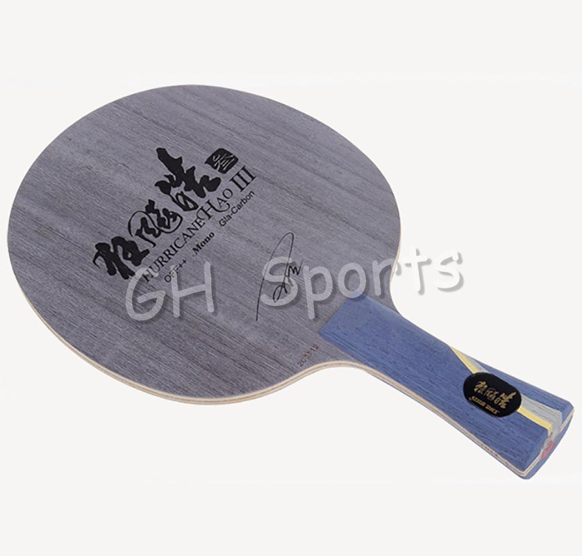 DHS Hurricane HAO 3 (Wang Hao 3) Table Tennis Blade (4 Wood+1 Glass Carbon) Racket Ping Pong Bat dhs hurricane ning 5 ply off table tennis blade for ping pong racket penhold short handle cs