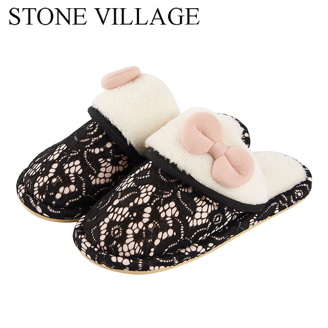 Plus Size 36 45 Winter Women Home Slippers Women Indoor Shoes For ...